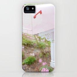 Shabby Chic Pink Mailbox Garden Cottage Decor Wall Art Prints iPhone Case