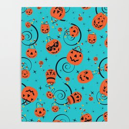 Halloween Magic- Turquoise Poster