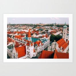 Hues Line is it Anyway? | Munich, Germany Art Print
