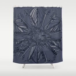 Snow Marries Stone Shower Curtain