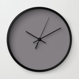 Color inspired by Valspar America Cinder Fox Light Purple Gray 4001-2B Solid Color Wall Clock