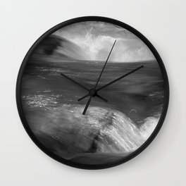 Never stop flowing.... Mountain river Wall Clock