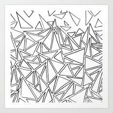 B/W Triangle Art Print