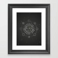 Moon, sun and elements Framed Art Print