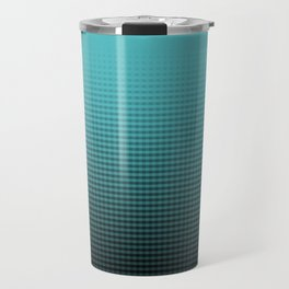Ombré Tiffany Blue Pattern Travel Mug