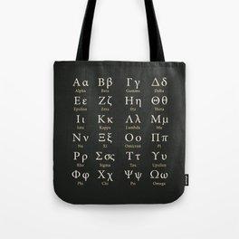 The Greek Alphabet Tote Bag