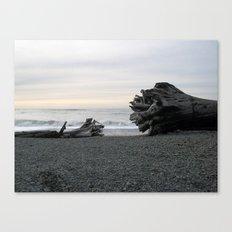 Logs on La Push Beach Canvas Print