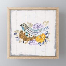 NestingPaintedBird Framed Mini Art Print