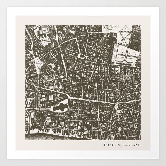 London Map Art Print By Zeketucker Society6