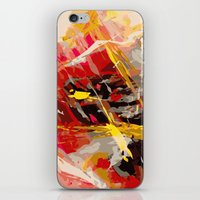 cage iPhone & iPod Skins featuring fire cage by Matthias Hennig