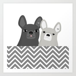 Dog friends Art Print