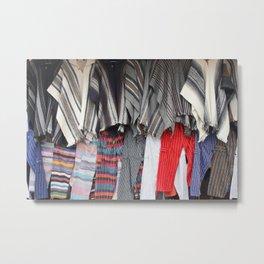 Rows of Ponchos and Pants Metal Print