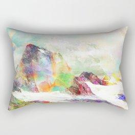 Glitch Mountain Rectangular Pillow