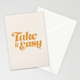 Take it Easy (Yellow Palette) Stationery Cards