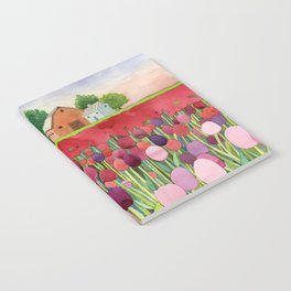 Violet and crimson tulips Notebook