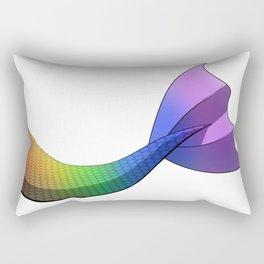 Rainbow Mermaid Tail V2 w/ White Background Rectangular Pillow