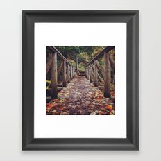 Today will be awesome, I said. And then - with a little help from autumn - I made it awesome. Framed Art Print