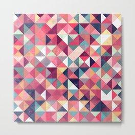 Lovely Geometric Background Metal Print