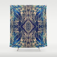 mineral Shower Curtains featuring Labradorite Mineral by j kelso (SeaBelly)