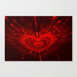 Cupid's Arrows | Valentines Day | Love Red Black Heart Texture Pattern Canvas Print