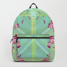 Tulips in green shades Backpack