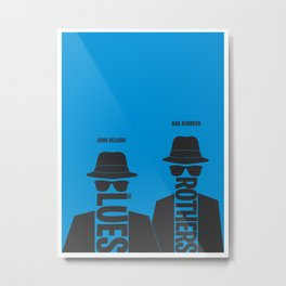 The Blues Brothers minimalist poster Metal Print