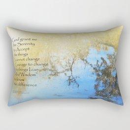 Serenity Prayer Pond Reflections Rectangular Pillow