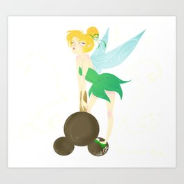 Tink and the Mickey Bar Art Print
