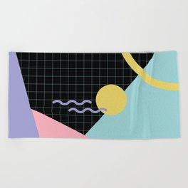 Memphis Pattern 7 - 80s - 90s - Retro Beach Towel