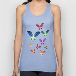 A Rainbow of Agate Butterflies Unisex Tank Top