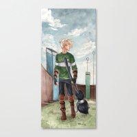 quidditch Canvas Prints featuring Quidditch by CaptBexx