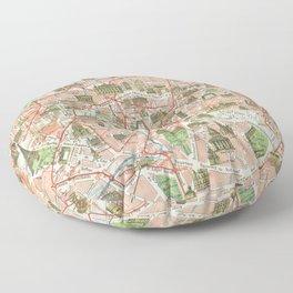 Vintage Map of Paris (1920) Floor Pillow