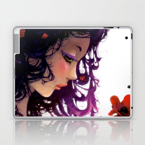 Les fleurs rouges... Laptop & iPad Skin