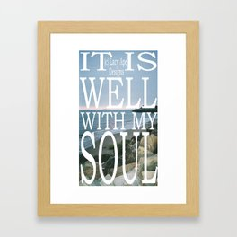 Hipster Photo: It Is Well Framed Art Print