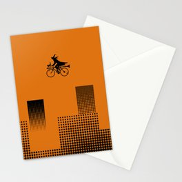Witch on a Bicycle Stationery Cards