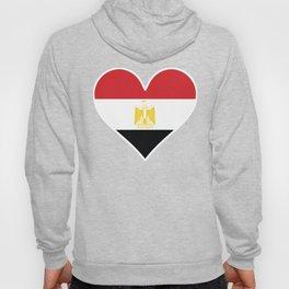 Egyptian Flag Heart Hoody