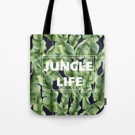 JUNGLE LIFE-banana leaves Tote Bag