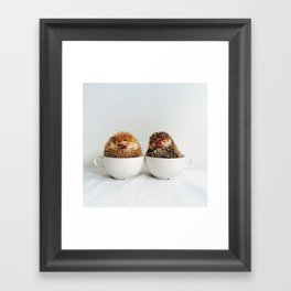 Hedgehogs in love Framed Art Print