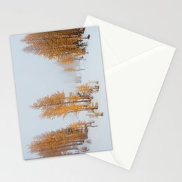 Vibrant Larch Trees Stationery Cards
