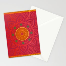 """Fuchsia and Gold Mandala"" Stationery Cards"