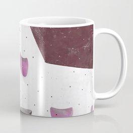 Geometric abstract free climbing bouldering holds pink purple Coffee Mug