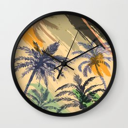Palm Beach, summer Wall Clock