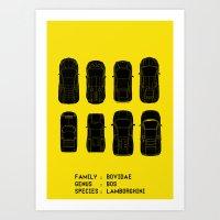 lamborghini Art Prints featuring Lamborghini Family by Salmanorguk