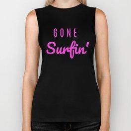 Gone Surfin' Pink Biker Tank
