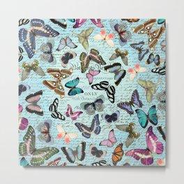 butterflies blue Metal Print