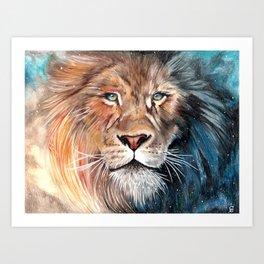 Celestial Lion Art Print