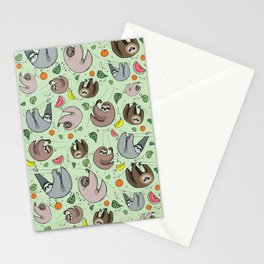 Sloth Party Stationery Cards