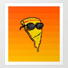 Pizza Dude Art Print