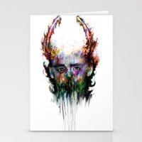 loki Stationery Cards featuring loki by ururuty