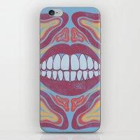 teeth iPhone & iPod Skins featuring Teeth by Julian Tavormina